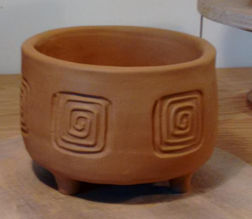 Finished pot but not fired yet